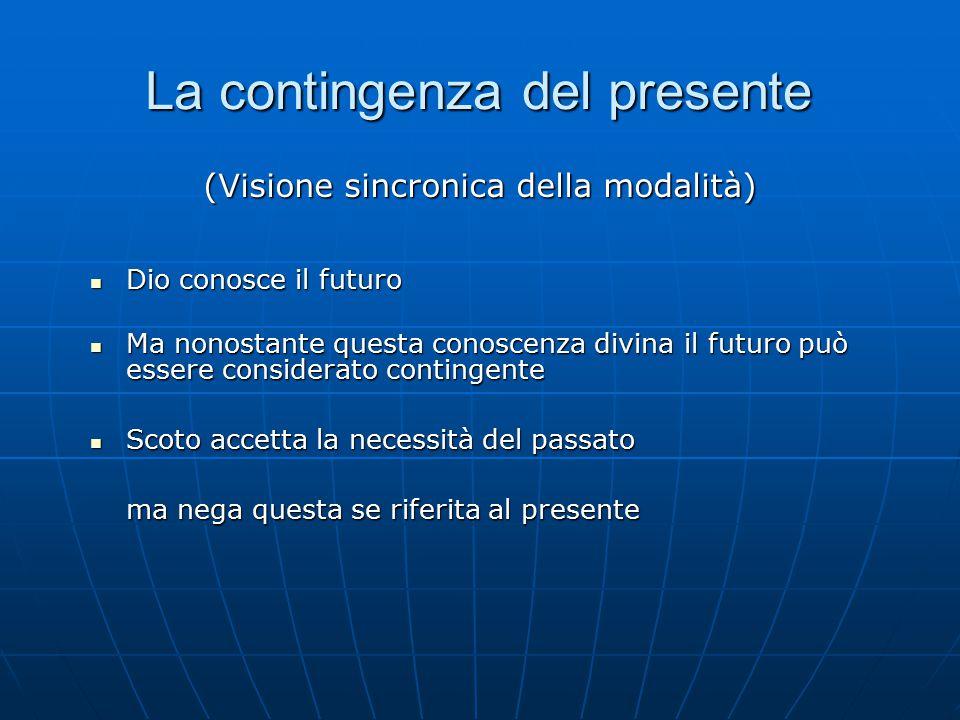 La contingenza del presente Dio conosce il futuro Dio conosce il futuro Ma nonostante questa conoscenza divina il futuro può essere considerato contin