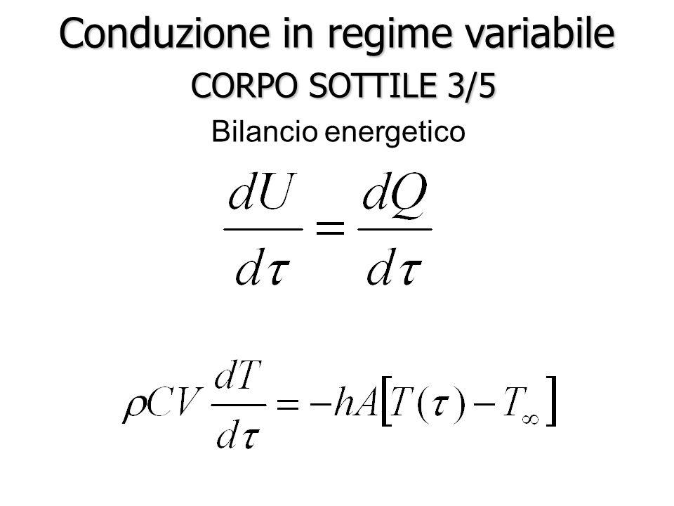 Bilancio energetico Conduzione in regime variabile CORPO SOTTILE 3/5