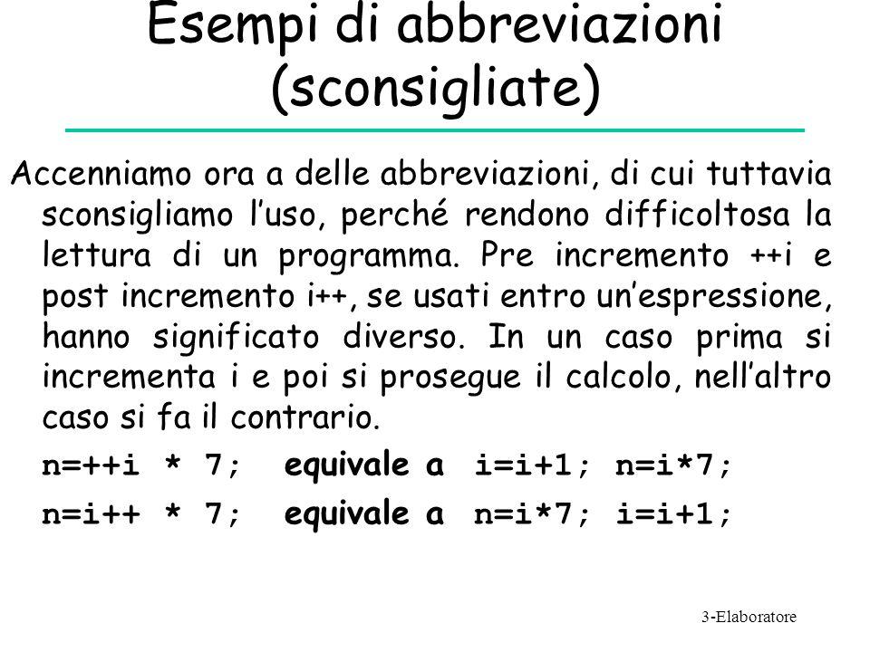 Esempi di abbreviazioni (sconsigliate) Accenniamo ora a delle abbreviazioni, di cui tuttavia sconsigliamo l'uso, perché rendono difficoltosa la lettur