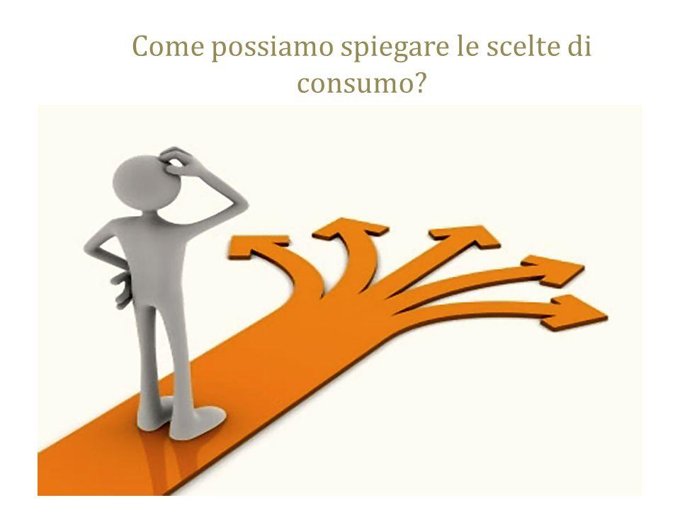 Come possiamo spiegare le scelte di consumo maura.franchi@unipr.it7