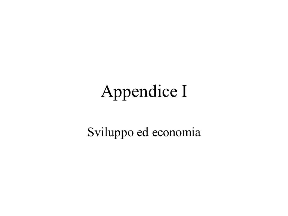 Appendice I Sviluppo ed economia