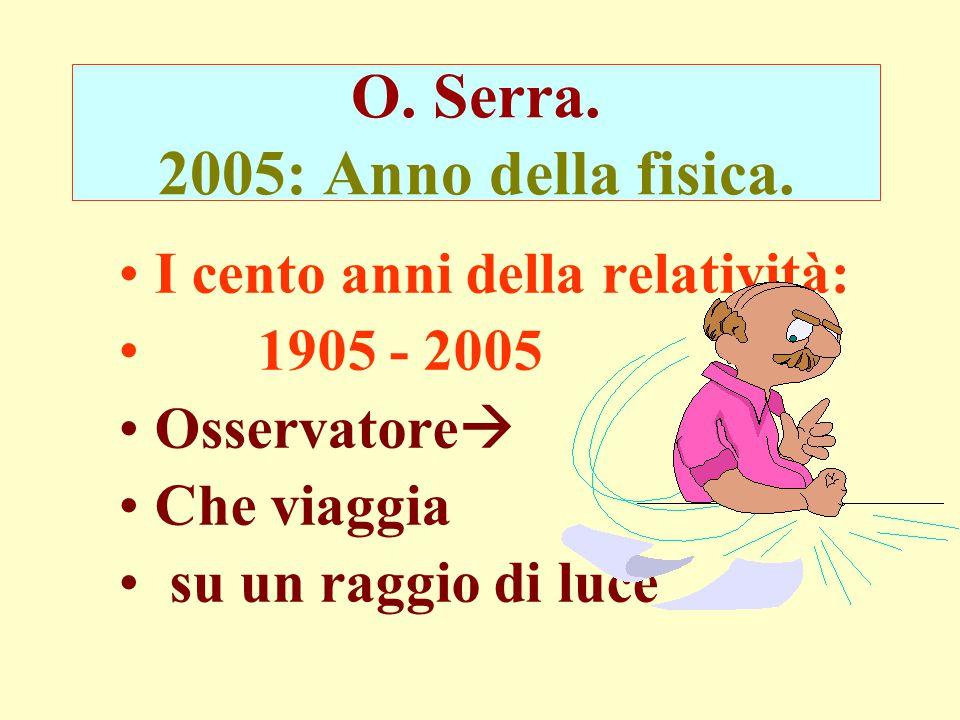 O.Serra. 2005: Anno della fisica.