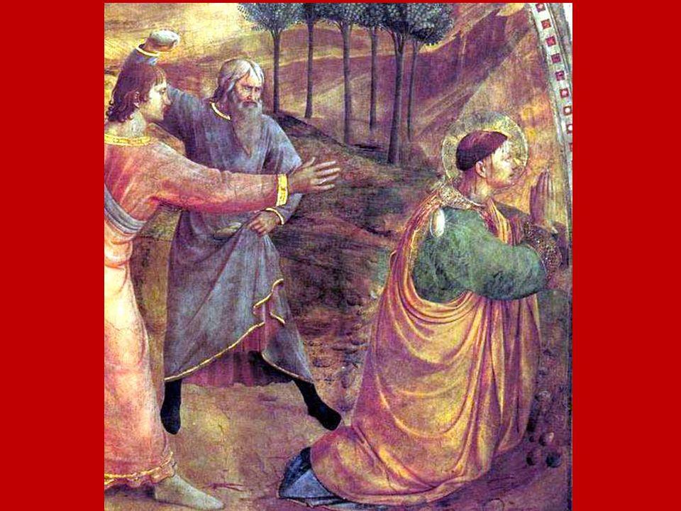 La vita e il discorso di Stefano improvvisamente si interrompono con la lapidazione, ma proprio il suo martirio è il compimento della sua vita e del suo messaggio: egli diventa una cosa sola con Cristo.