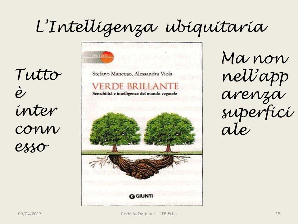 L'Intelligenza ubiquitaria 09/04/2013Rodolfo Damiani - UTE Erba15 Tutto è inter conn esso Ma non nell'app arenza superfici ale
