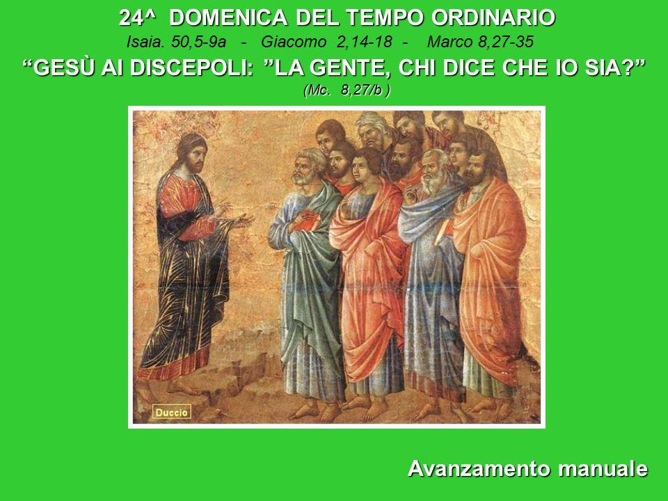 24^ DOMENICA DEL TEMPO ORDINARIO Isaia.