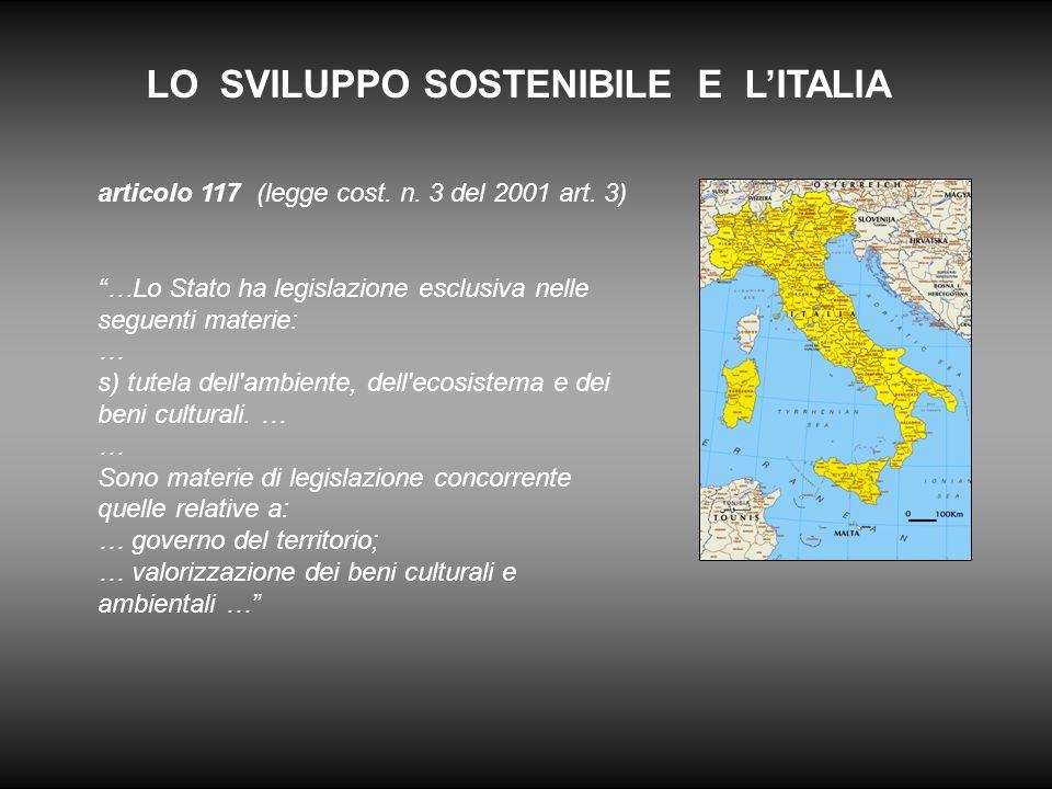 LO SVILUPPO SOSTENIBILE E L'ITALIA articolo 117 (legge cost.