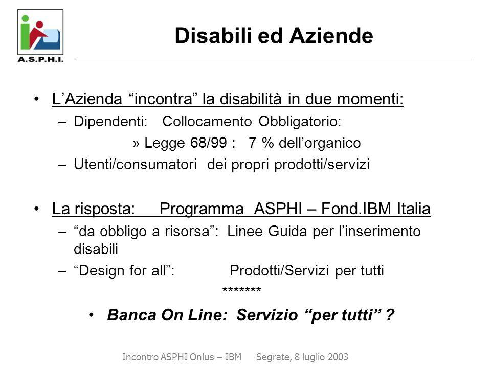 """Disabili ed Aziende ___________________________________________________________________________________ L'Azienda """"incontra"""" la disabilità in due mome"""