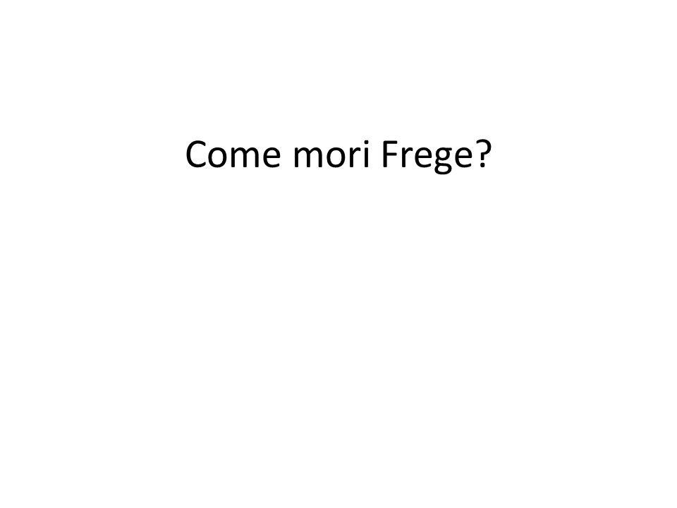 Come mori Frege