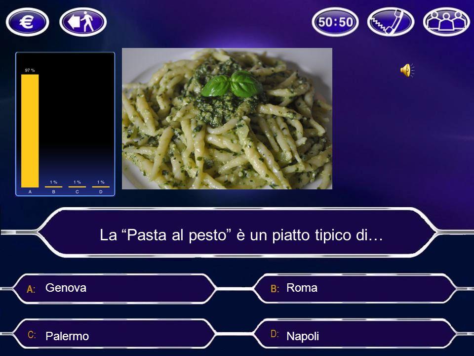 """La """"Pasta al pesto"""" è un piatto tipico di… Palermo Genova"""