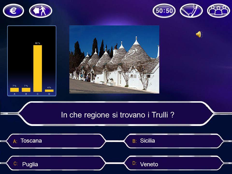 In che regione si trovano i Trulli ? Sicilia Puglia