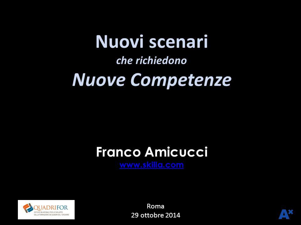 Franco Amicucci www.skilla.com LuissRoma 29 ottobre 2014 Nuovi scenari che richiedono Nuove Competenze