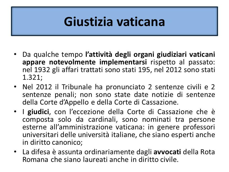 Tribunale vaticano sentenza 6 ottobre 2012 Nel corso dei primi mesi del 2012 si verifica una sistematica fuga di documenti vaticani riservati; nel maggio 2012 G.
