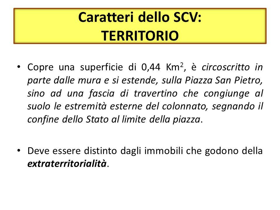 Caratteri dello SCV: POPOLO Hanno cittadinanza vaticana (art.