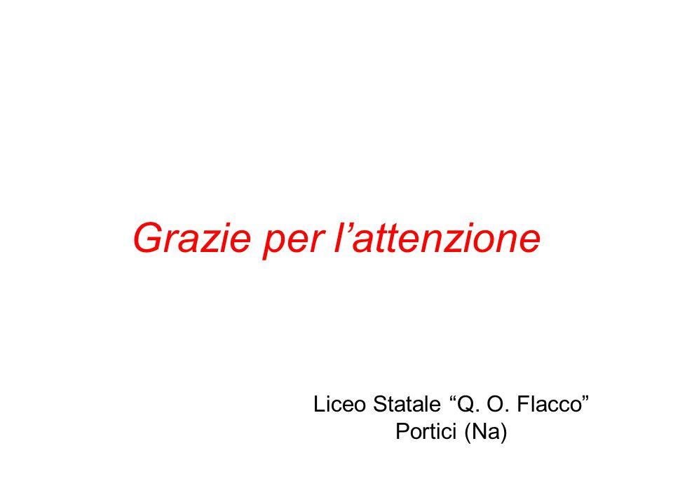 "Grazie per l'attenzione Liceo Statale ""Q. O. Flacco"" Portici (Na)"