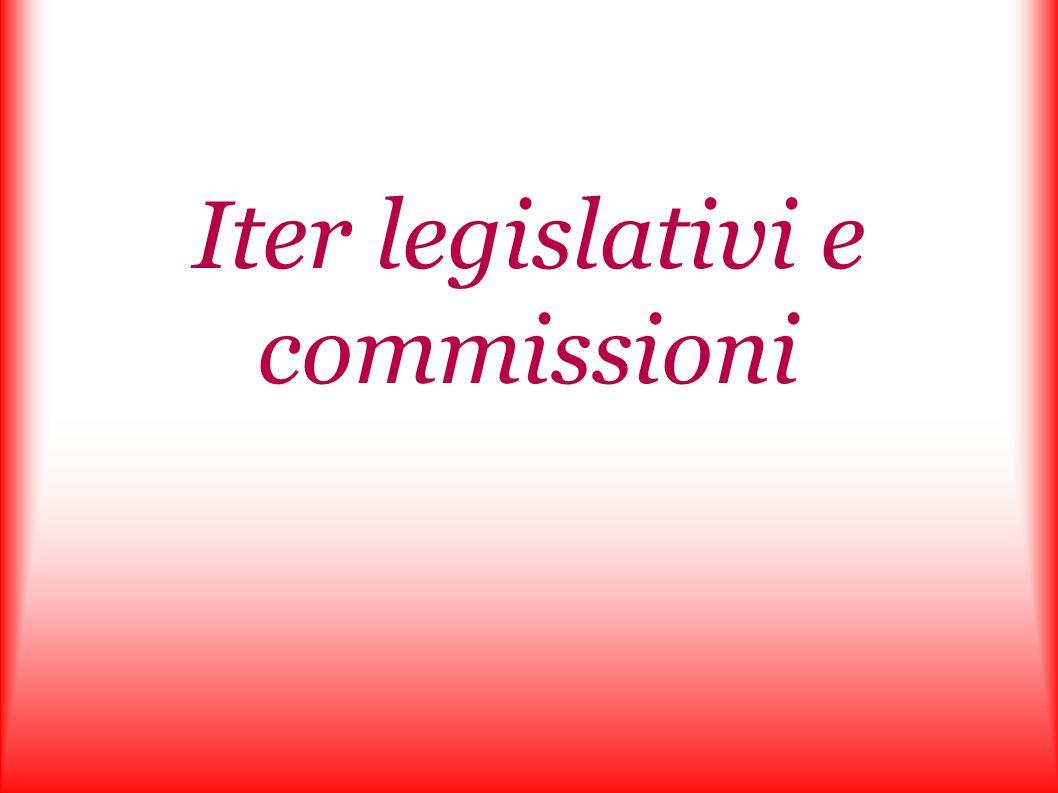 Iter legislativi e commissioni