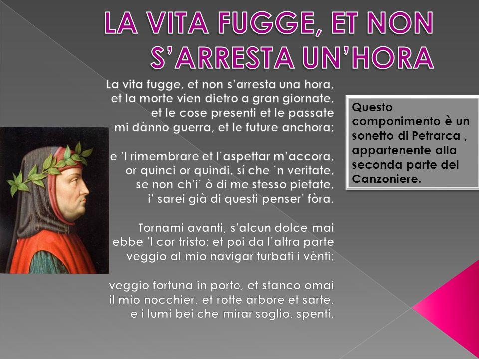Questo componimento è un sonetto di Petrarca, appartenente alla seconda parte del Canzoniere.