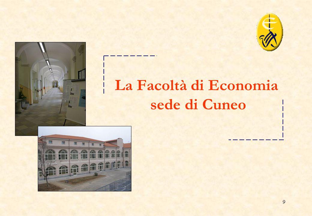 9 La Facoltà di Economia sede di Cuneo