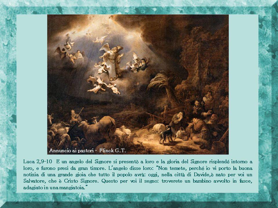 Luca 1,26-38 Al sesto mese, l angelo Gabriele fu mandato da Dio in una città di Galilea, chiamata Nazaret, l angelo, entrato da lei, disse: «Ti saluto, o favorita dalla grazia; il Signore è con te».