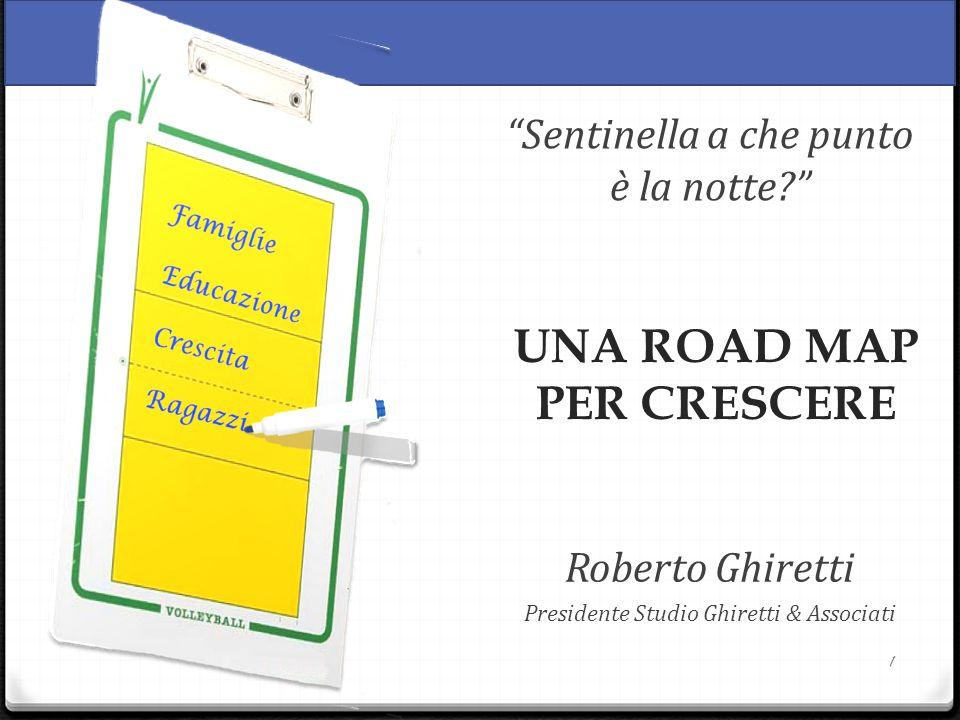 1 UNA ROAD MAP PER CRESCERE Sentinella a che punto è la notte Roberto Ghiretti Presidente Studio Ghiretti & Associati
