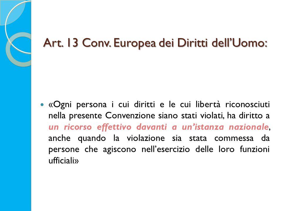 Art. 13 Conv.