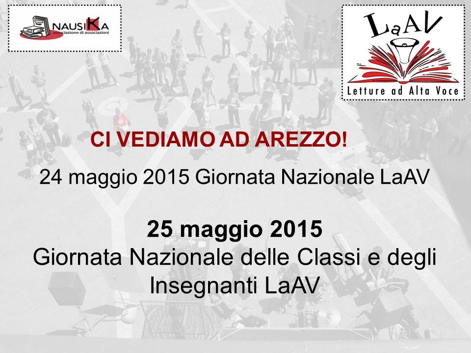 CI VEDIAMO AD AREZZO! 24 maggio 2015 Giornata Nazionale LaAV 25 maggio 2015 Giornata Nazionale delle Classi e degli Insegnanti LaAV
