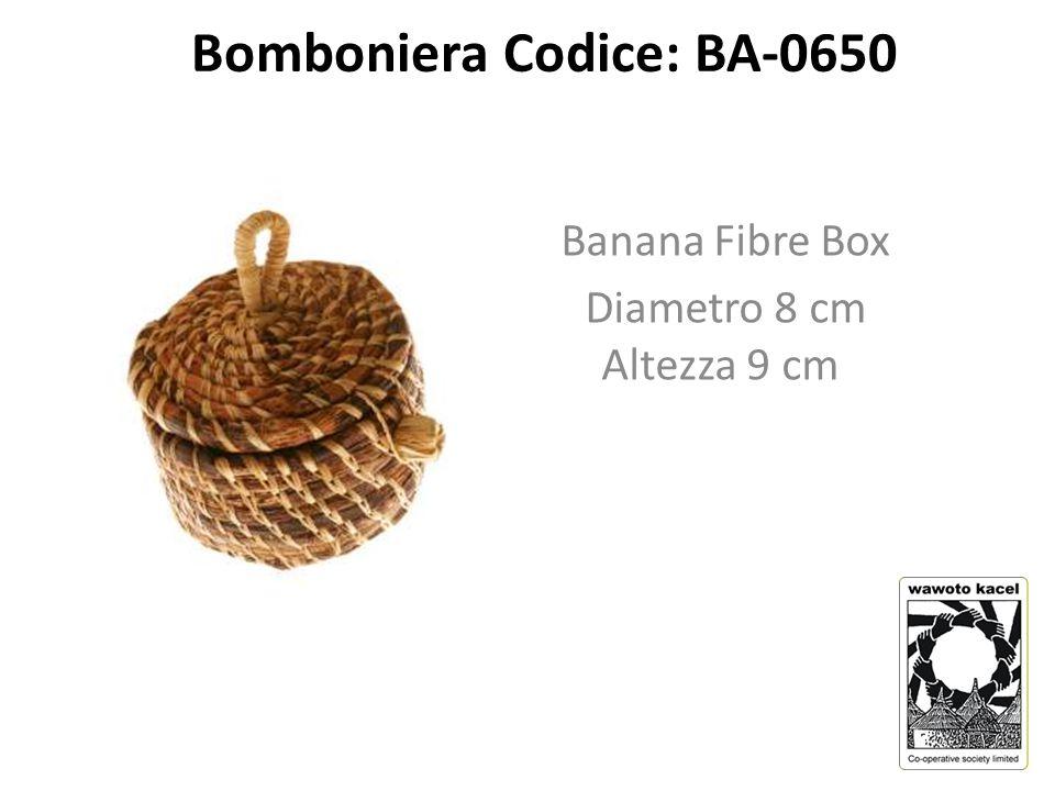 Bomboniera Codice: BA-0650 Banana Fibre Box Diametro 8 cm Altezza 9 cm