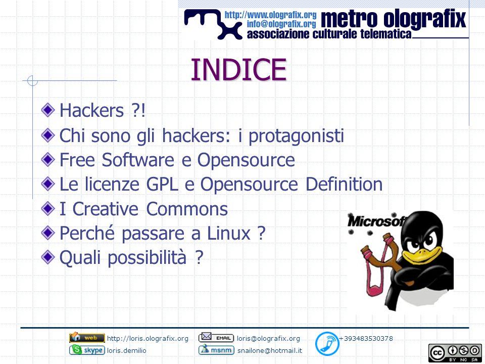 INDICE Hackers .