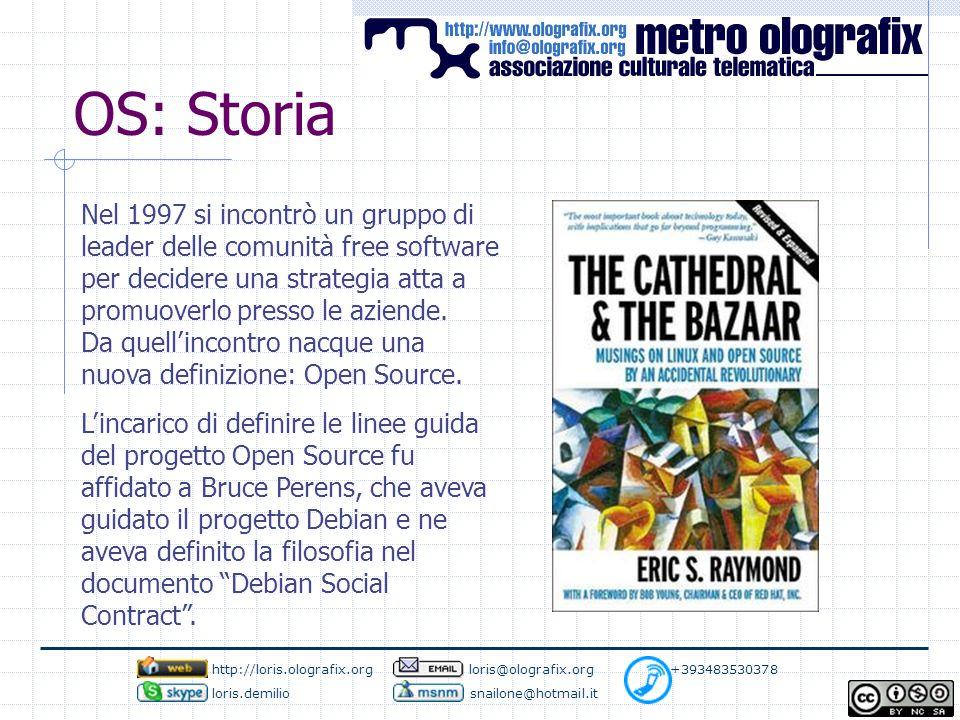 OS: Storia Nel 1997 si incontrò un gruppo di leader delle comunità free software per decidere una strategia atta a promuoverlo presso le aziende.