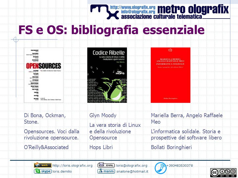 FS e OS: bibliografia essenziale Di Bona, Ockman, Stone.
