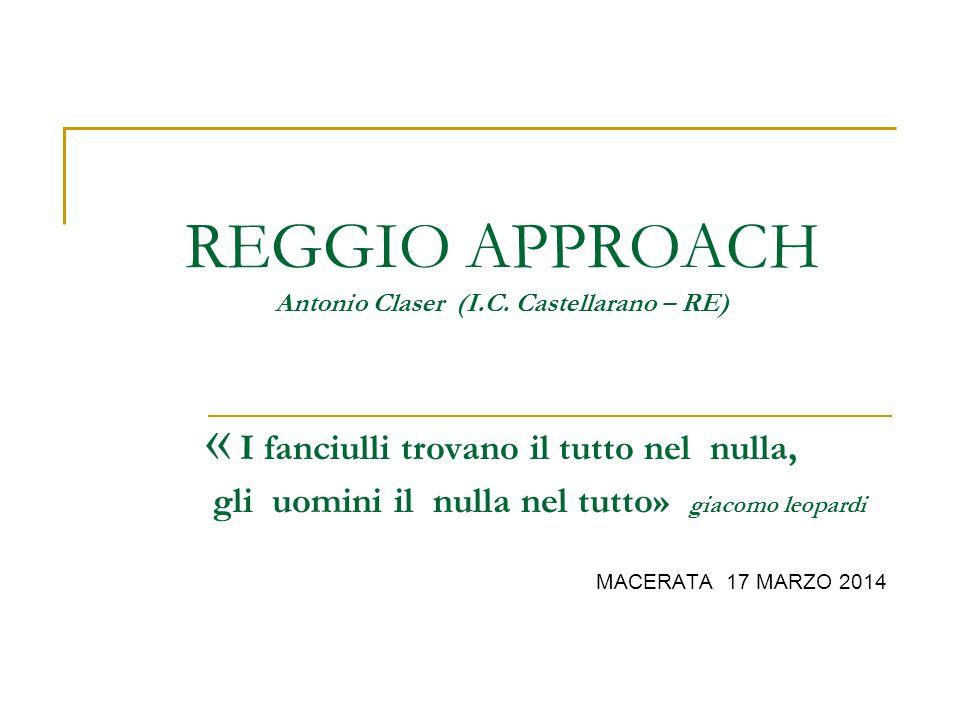 REGGIO APPROACH Antonio Claser (I.C.