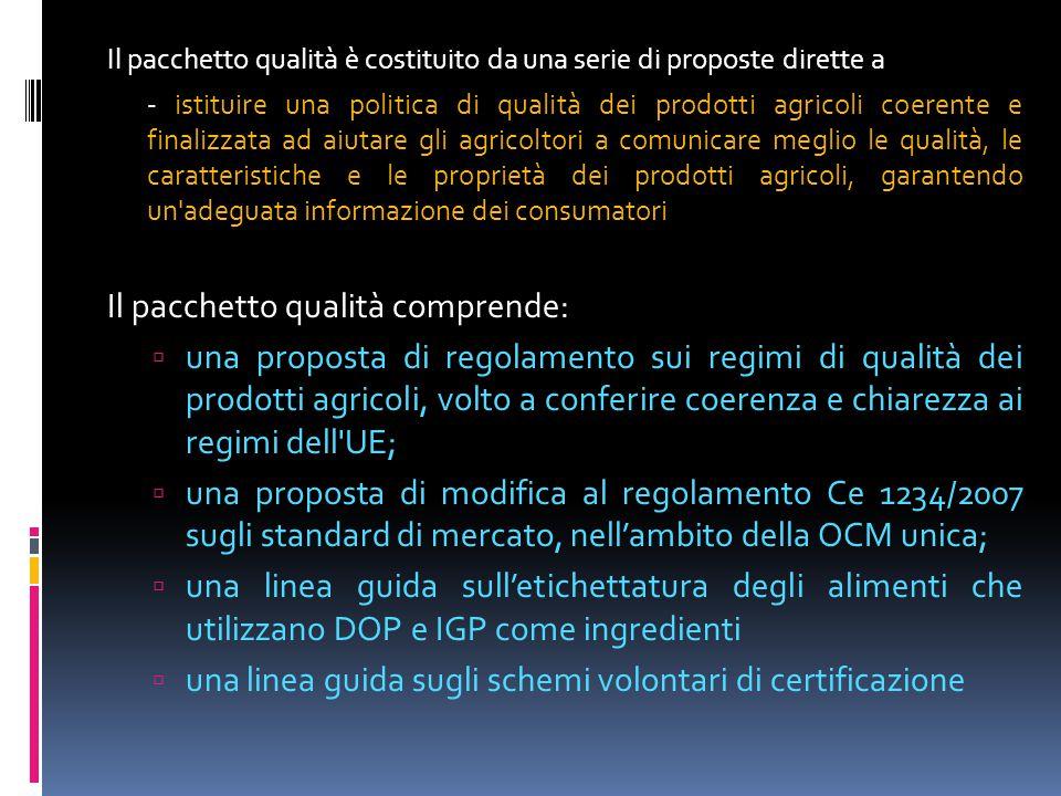 Proposta di regolamento sui sistemi di qualità  accorpamento di testi giuridici:  prevede in un unico testo la disciplina dei sistemi di certificazione di qualità esistenti = DOP/IGP (Reg.