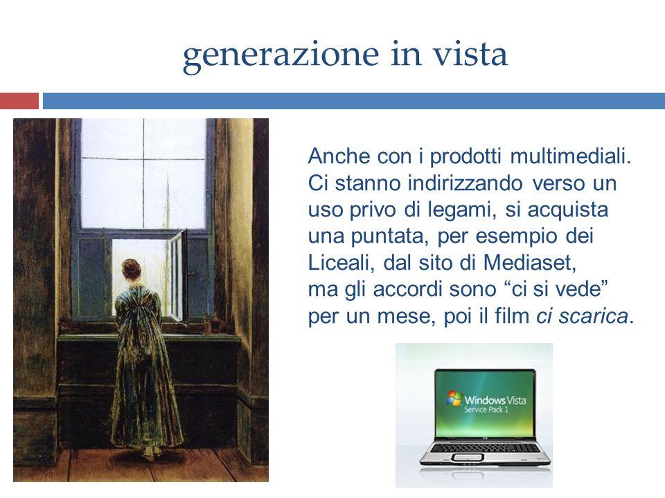 generazione in vista Anche con i prodotti multimediali.