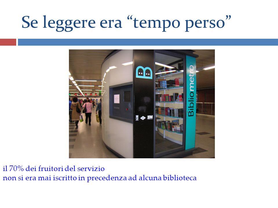 Se leggere era tempo perso il 70% dei fruitori del servizio non si era mai iscritto in precedenza ad alcuna biblioteca