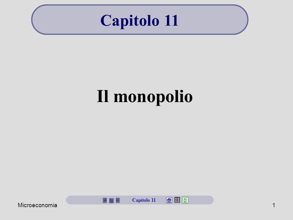 Microeconomia1 Il monopolio Capitolo 11
