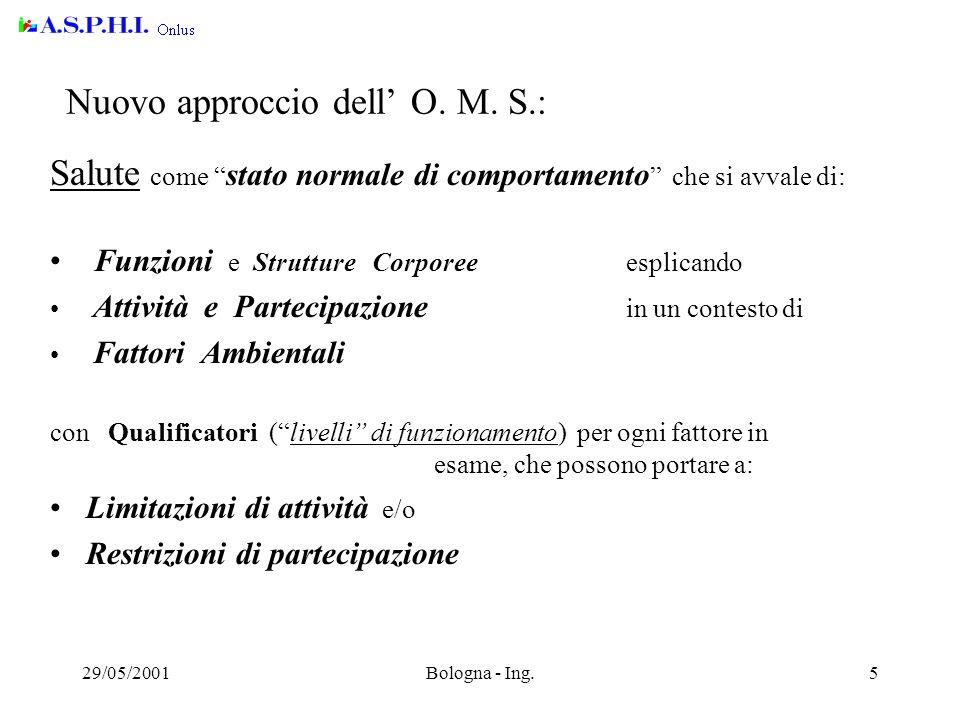 29/05/2001Bologna - Ing.5 Nuovo approccio dell' O.