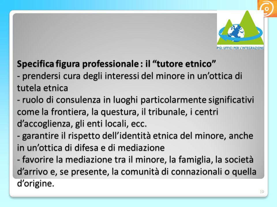 """Specifica figura professionale : il """"tutore etnico"""" - prendersi cura degli interessi del minore in un'ottica di tutela etnica - ruolo di consulenza in"""