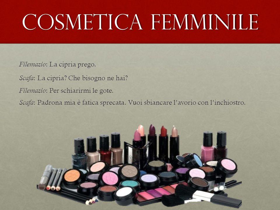 Cosmetica femminile Filemazio : La cipria prego.Scafa : La cipria.