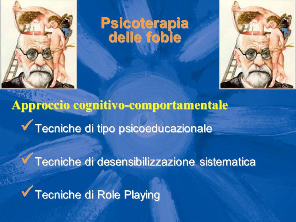 Psicoterapia delle fobie Tecniche di tipo psicoeducazionale Tecniche di tipo psicoeducazionale Tecniche di desensibilizzazione sistematica Tecniche di