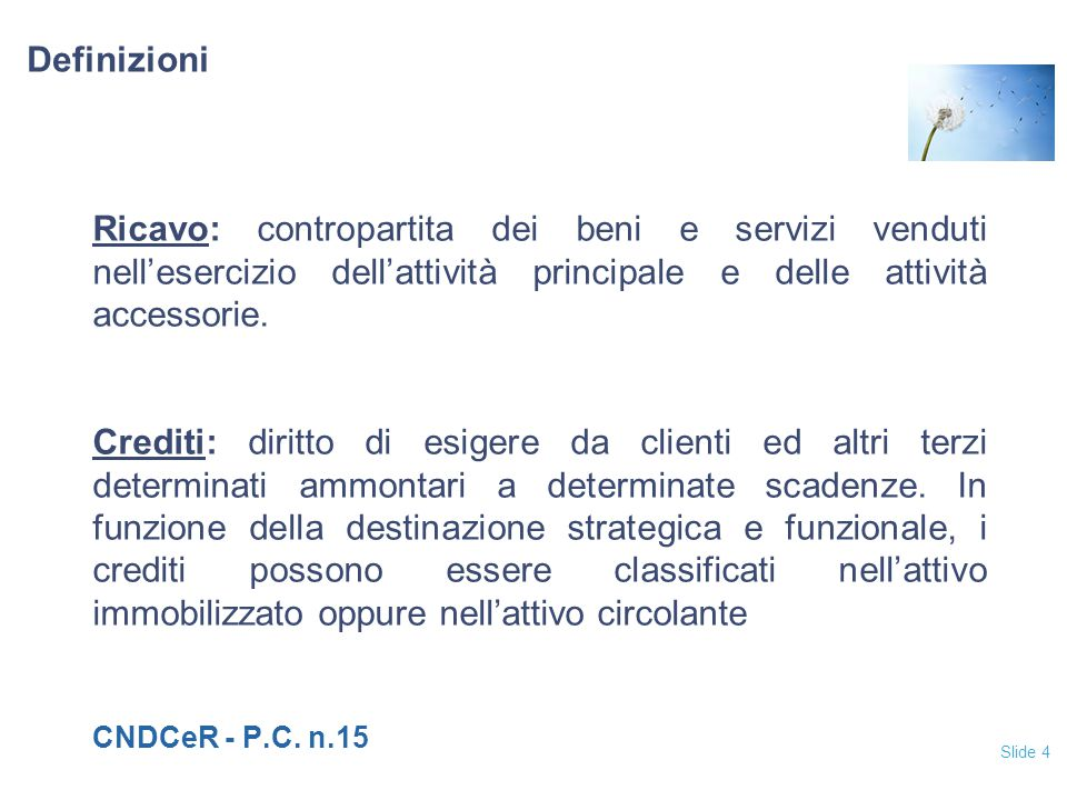 Slide 65 Ciclo attivo – Diagramma di flusso: collegamento ai conti Financial Statements ERP system Cash Receipting ERP system Invoicing ERP system Order Processing ERP system Master data ERP system Sales (P&L) Distribution & Delivery ERP system Inventory Treasury Accounts Receivables (BS) Inventory BS Cash (BS) DRCR Cost of sales (P&L) DR CR DR CR