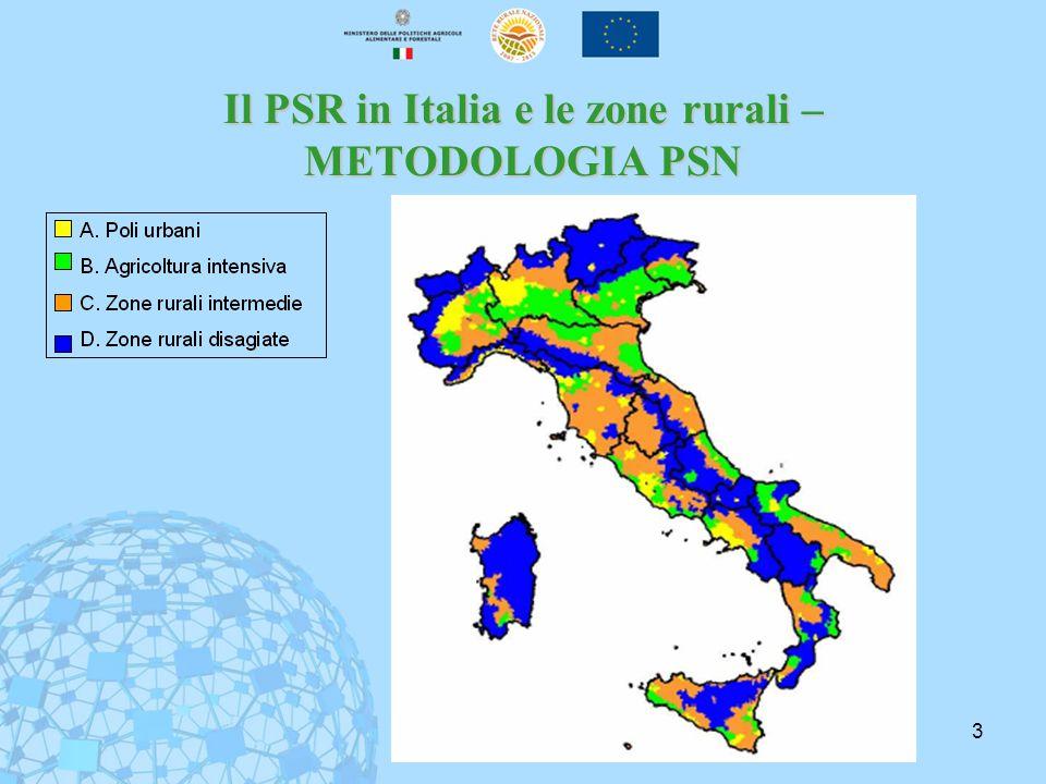 3 Il PSR in Italia e le zone rurali – METODOLOGIA PSN