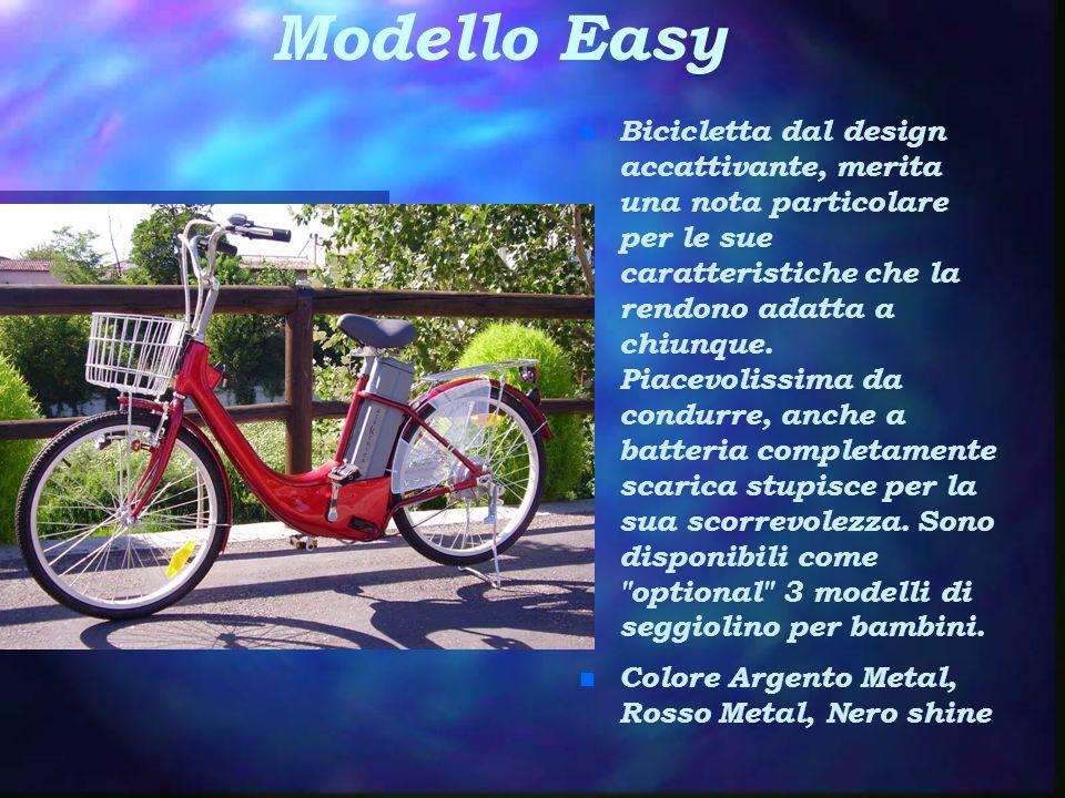 Modello Easy n Bicicletta dal design accattivante, merita una nota particolare per le sue caratteristiche che la rendono adatta a chiunque. Piacevolis