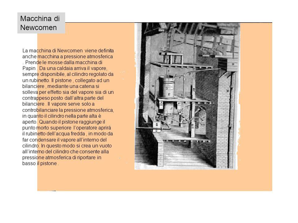 Macchina di Newcomen La macchina di Newcomen viene definita anche macchina a pressione atmosferica.