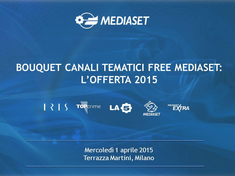 BOUQUET CANALI TEMATICI FREE MEDIASET: L'OFFERTA 2015 Mercoledì 1 aprile 2015 Terrazza Martini, Milano
