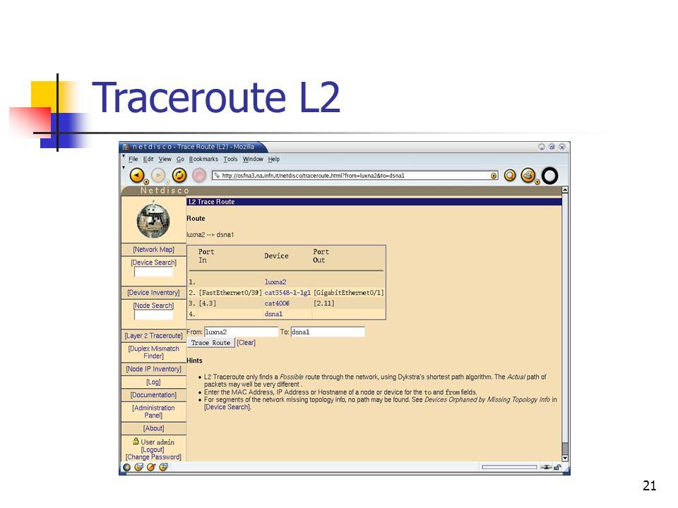 21 Traceroute L2