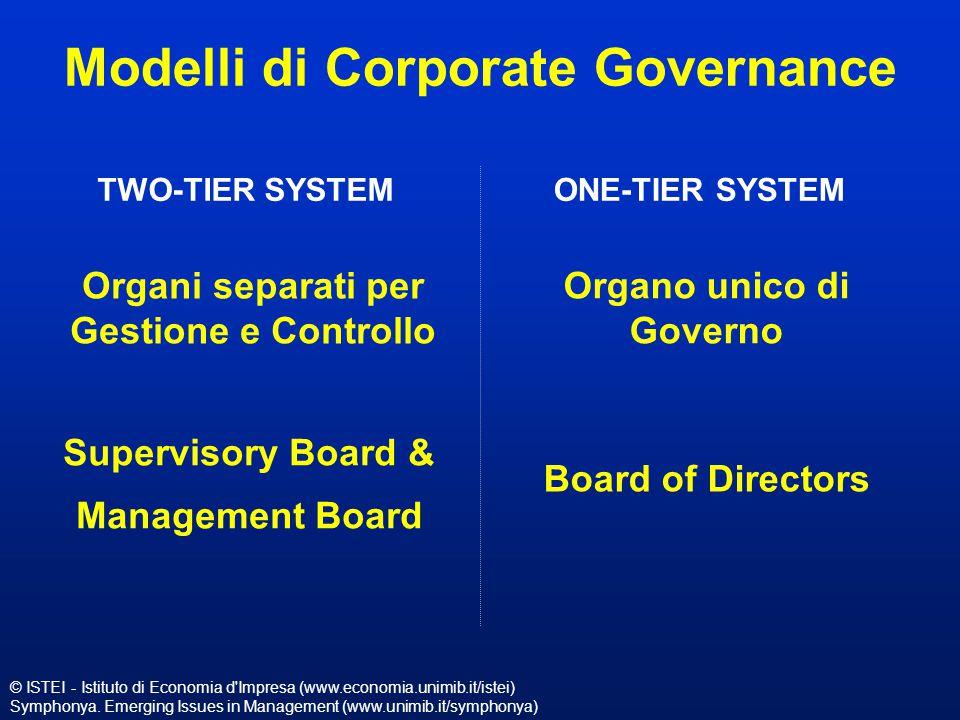 © ISTEI - Istituto di Economia d'Impresa (www.economia.unimib.it/istei) Symphonya. Emerging Issues in Management (www.unimib.it/symphonya) Modelli di