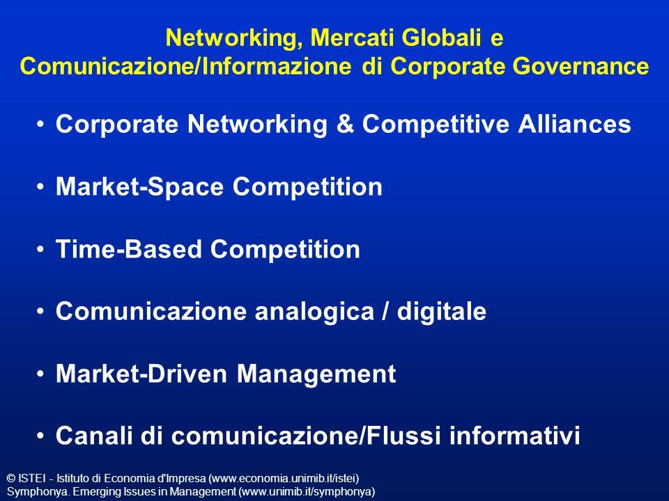 © ISTEI - Istituto di Economia d'Impresa (www.economia.unimib.it/istei) Symphonya. Emerging Issues in Management (www.unimib.it/symphonya) Networking,