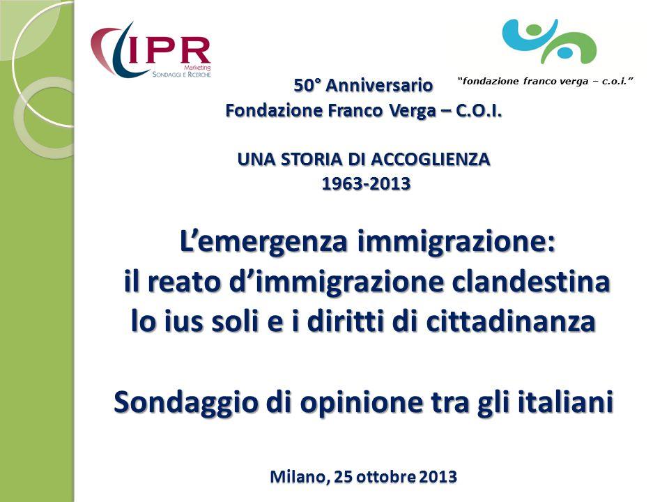 50° Anniversario Fondazione Franco Verga – C.O.I.