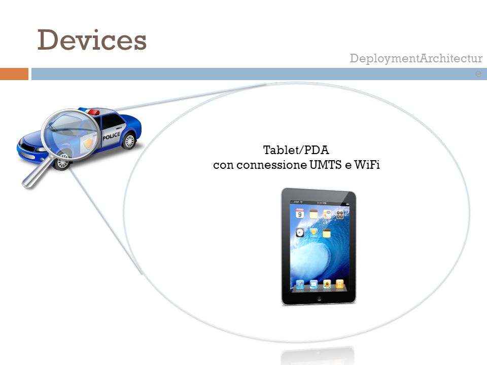 Devices DeploymentArchitectur e Tablet/PDA con connessione UMTS e WiFi