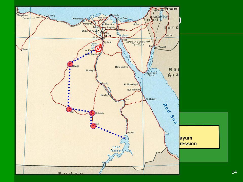 14 Identificazione del modello Western Desert El Fayum depression Depressione di El Fayum Canale sequenza di n+1 canali
