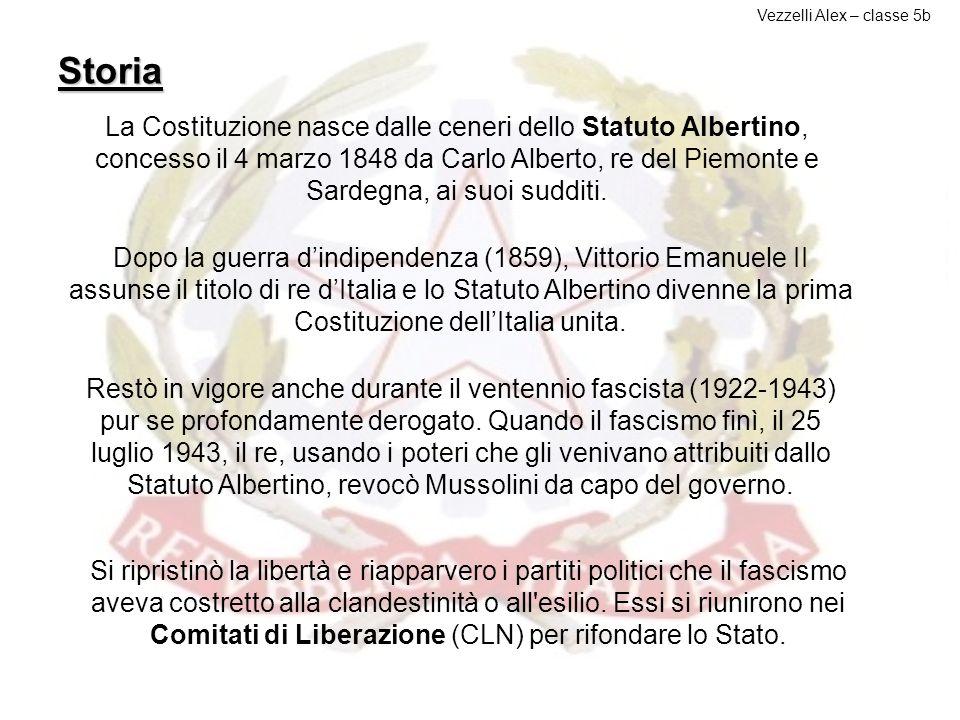 Storia della costituzione Tutti i cittadini hanno pari dignità sociale e sono eguali davanti alla legge, senza distinzione di sesso, di razza, di ling